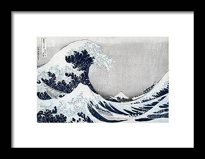 Hokusai Wave Framed Prints