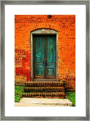 The Green Door Framed Print by Bob Whitt