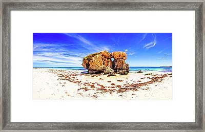 Framed Print featuring the photograph The Sentry, Two Rocks by Dave Catley