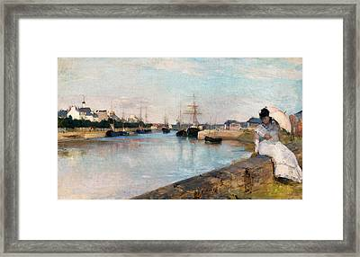 The Harbor At Lorient Framed Print by Berthe Morisot