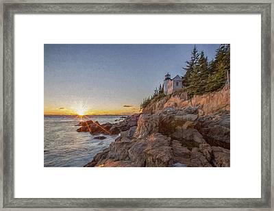 The Harbor Dusk IIi Framed Print by Jon Glaser