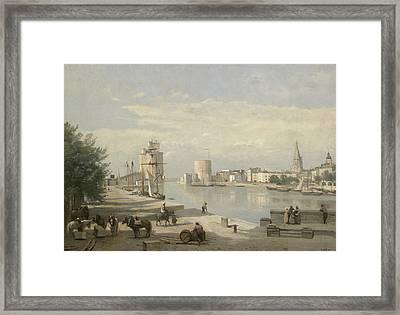 The Harbor Of La Rochelle Framed Print