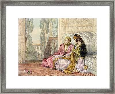 The Harem Framed Print by John Frederick Lewis