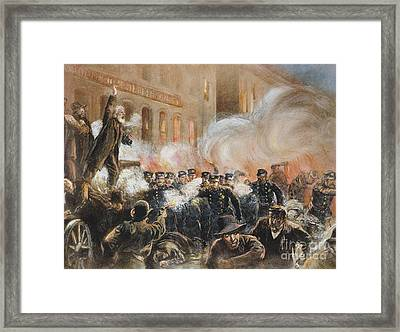 The Haymarket Riot, 1886 Framed Print by Granger
