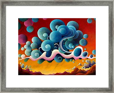 The Heart Of Ascension Framed Print by Richard Dennis
