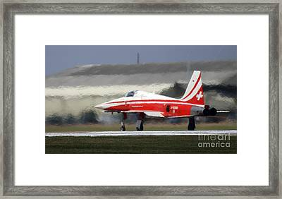 The Heat Framed Print by Angel  Tarantella