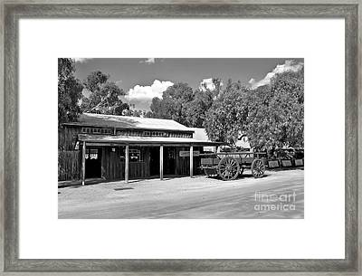 The Heritage Town Of Echuca Victoria Australia Framed Print by Kaye Menner