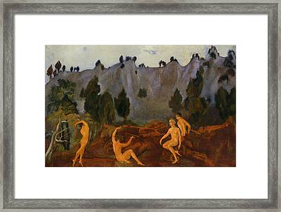 The Hesitation Of Orestes Framed Print by Arthur Bowen Davies