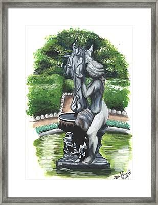 The Hidden Fountain Framed Print by Scarlett Royal