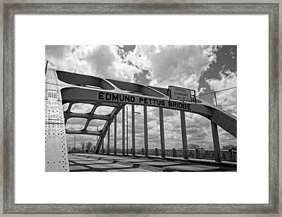 The Historic Edmund Pettus Bridge - Selma Alabama Framed Print