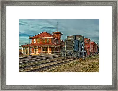 The Historic Santa Fe Railroad Station Framed Print by Mountain Dreams