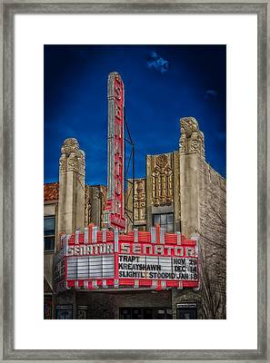 The Historic Senator Theatre Framed Print by Mountain Dreams