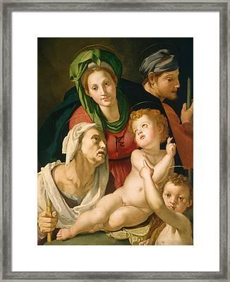 The Holy Family Framed Print by Agnolo Bronzino