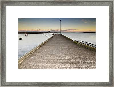 The Holy Island Of Lindisfarne Framed Print by Nichola Denny