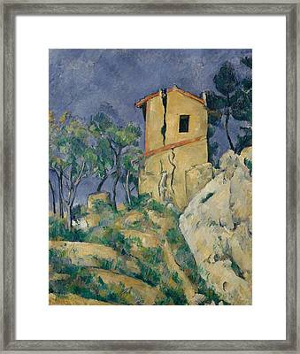 The House With The Cracked Walls Framed Print