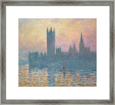 The Houses Of Parliament  Sunset Framed Print