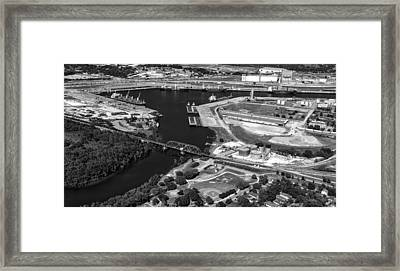 The Houston Ship Channel Framed Print by Mountain Dreams