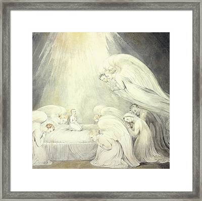 The Infant Jesus Saying His Prayers Framed Print by William Blake