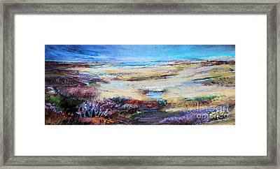 Framed Print featuring the painting The Inlet by Diane Ursin