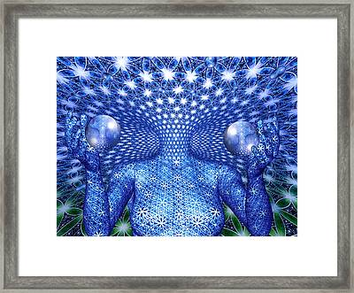 Framed Print featuring the painting The Invention Of Duality by Robby Donaghey