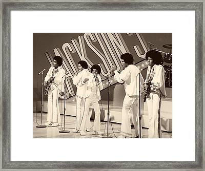 The Jackson 5 1972 Framed Print by Mountain Dreams