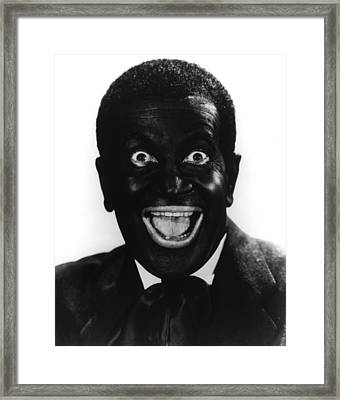 The Jazz Singer, Al Jolson, 1927 Framed Print by Everett