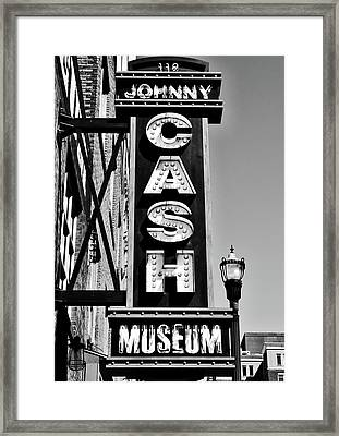 The Johnny Cash Museum - Nashville Framed Print by Paul Brennan