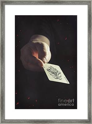 The Joker Framed Print by Amanda Elwell