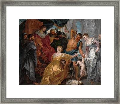 The Judgment Of Solomon Framed Print