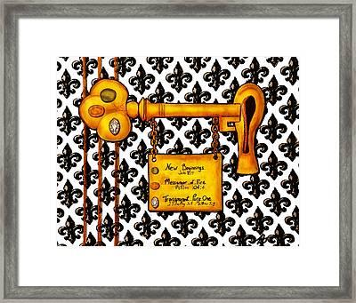 The Key Framed Print