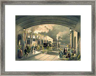 The King At New Cross Station  Framed Print by Edouard Pingret