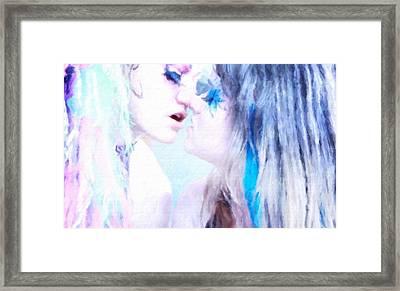 The Kiss Framed Print by Mary Bassett