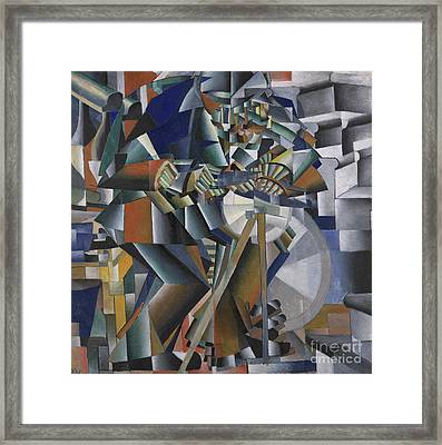 The Knife Grinder Or Principle Of Glittering Framed Print by Kazimir Malevich