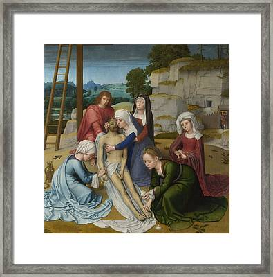 The Lamentation Over The Dead Christ Framed Print