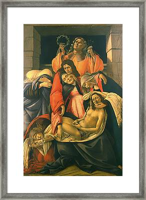 The Lamentation Over The Dead Christ Framed Print by Mountain Dreams