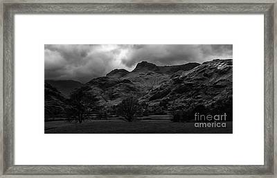 The Langdale Pikes Framed Print by John Collier