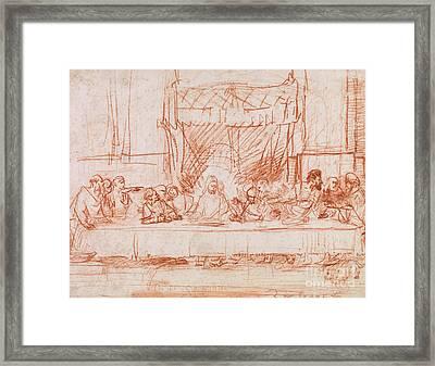 The Last Supper, After Leonardo Da Vinci Framed Print