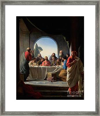 The Last Supper Framed Print by Celestial Images