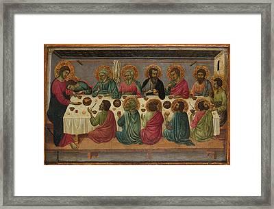 The Last Supper Framed Print by Ugolino da Siena