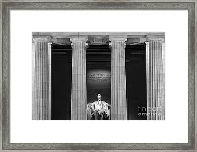 The Lincoln Memorial Framed Print by Henk Meijer Photography