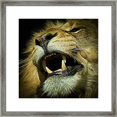 The Lion Digital Art Framed Print
