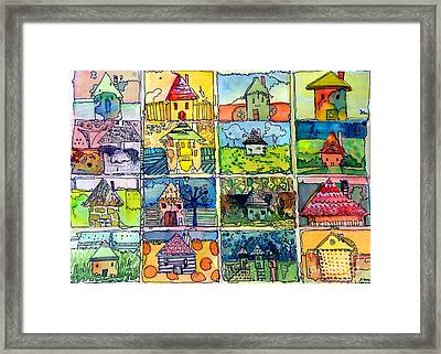 The Little Houses Framed Print by Mindy Newman