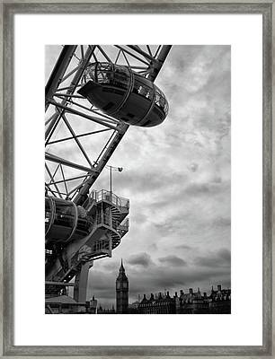 The London Eye Framed Print by Martin Newman
