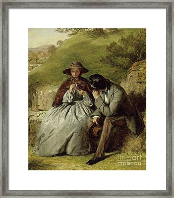 The Lovers Framed Print by William Powell Frith