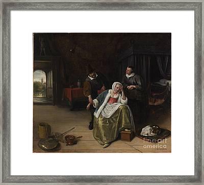 The Lovesick Maiden Framed Print by Celestial Images