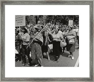 The March On Washington Framed Print by Nat Herz
