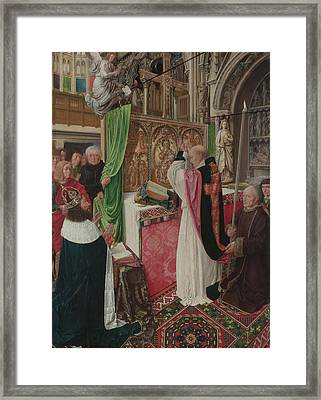 The Mass Of Saint Giles Framed Print by Master of Saint Giles