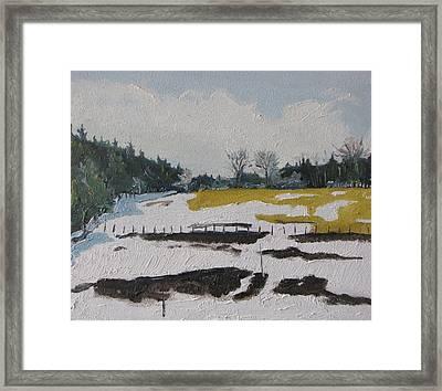 The Melting Snow Framed Print by Francois Fournier