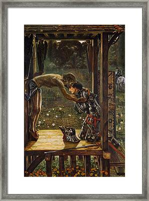 The Merciful Knight Framed Print by Edward Burne-Jones