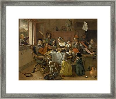 The Merry Family Framed Print